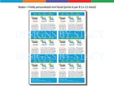 Rodan  Fields personalized mini facial by DesignsByStacyStudio