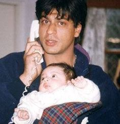 Shahrukh Khan with little Aryan. . .