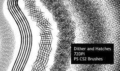 Dither and Hatch Brushes Photoshop