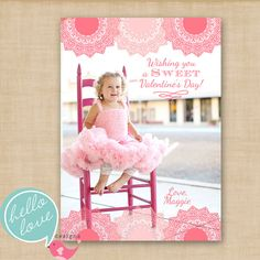 valentine's day photo card - it's printable!