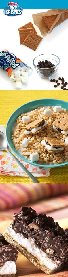 In a bowl for breakfast or a Treat for a snack, grahams, chocolate and marshmallows make Rice Krispies® a surefire summer fav.