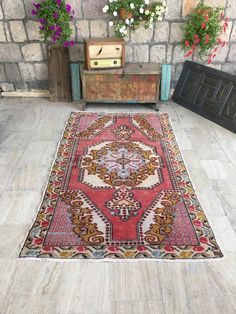 While working on my living room makeover, I've found hundreds of gorgeous… Room Rugs, Rugs In Living Room, Home Design Diy, Interior Design, Interior Shop, Stair Rug Runner, Eclectic Modern, Rustic Room, Yellow Rug