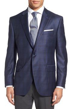 Peter Millar 'Flynn' Classic Fit Plaid Wool Sport Coat | Nordstrom