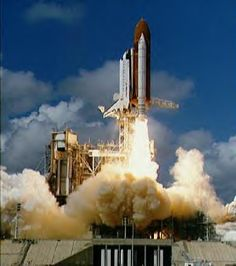 1988 ~ I remember this day well ~  Discovery lifts off from its platform at Kennedy Space Center on September 29, 1988. Exhaust plumes billow from the two solid rocket boosters and covers launch pad as the Discovery, atop of the orange external tank clears the launch tower and heads for Earth orbit. STS-26 marks NASA's first human spaceflight mission since the 51L Challenger accident, January 28, 1986.