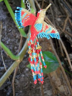 Hey, I found this really awesome Etsy listing at https://www.etsy.com/listing/234162550/hummingbird-beaded-3d-bird-ornament-seed