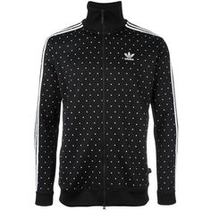 Adidas Originals 'PW HU' track jacket ($83) ❤ liked on Polyvore featuring men's fashion, men's clothing, men's activewear, men's activewear jackets and black