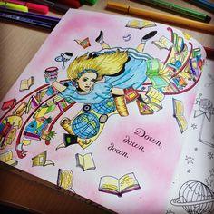 Alice! #escapetowonderland #colouringbook #escapetowonderlandcolouringbook