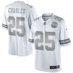 stitched nfl elite jersey jamaal charles kansas city chiefs nike platinum limited jersey white 94.99