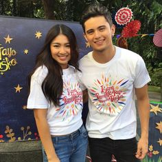 JaDine for IsangPamilyaTayoNgayongPasko (dreamscapePH) Best Casual Outfits, James Reid, Nadine Lustre, Jadine, Partners In Crime, Romantic Couples, Asian Boys, Beautiful Pictures, Abs
