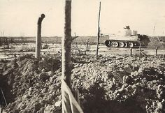 Original photo of a Tiger Tank on the prowl.
