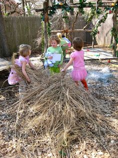 loose parts building a nest