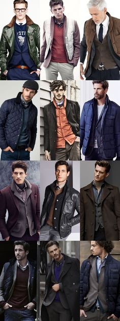 Men's Winter Layering Outfit Inspiration - Utilising Four Pieces