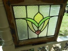 Older English stained glass window