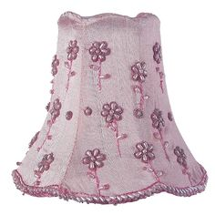 heavenly-lights.com - Pink Daisy Pearl Chandelier Shade, $33.00 (http://www.heavenly-lights.com/pink-daisy-pearl-chandelier-shade/)