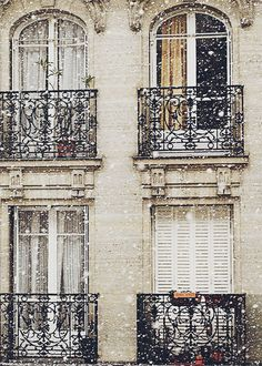 balconies in the snow