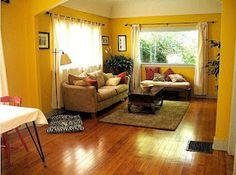 Living Room Yellow Walls living room | walls, room and house