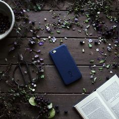 Photo from Emilie Ristevski - Berry good! SnapOn for iPhone 6. Color: Deep Sea, Material: Cow Grain #iphone6 #ullucraft  Buy Now: http://ullushop.com