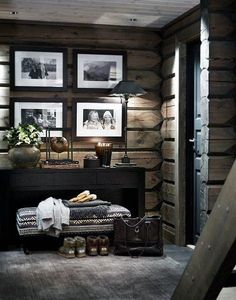 There are numerous ways to make your home interior design look more interesting, one of them is using cabin style design. With this inspiring gallery you can make fantastic cabin style in your home. Cabin Homes, Log Homes, Chalet Design, House Design, Cabin Design, Casa Hipster, Chalet Interior, Ski Chalet Decor, Cabin Interiors