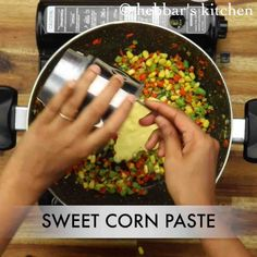 sweet corn soup recipe, sweet corn veg soup, chinese sweet corn soup with step by step photo/video. healthy creamy soup recipe with sweet corn kernels. Creamy Soup Recipes, Corn Soup Recipes, Vegetable Soup Recipes, Appetizers For Party, Appetizer Recipes, Falooda Recipe, Chinese Soup Recipes, Sweet Corn Soup, Beetroot Soup