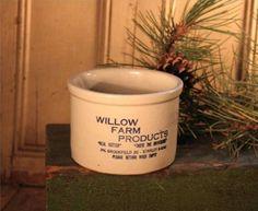 Vintage Willow Farm Stoneware Butter Crock | eBay
