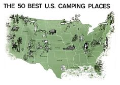 50 best camping places. Glamping included?