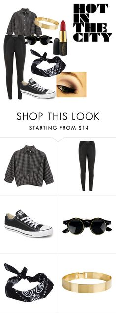 """""""punk pop festival"""" by nouks12345 ❤ liked on Polyvore featuring Chicnova Fashion, Converse, ASOS, Lele Sadoughi, MAC Cosmetics and edgy"""