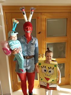 Diy spongebob mr krabs angry Gary the snail halloween costumes fancy dress