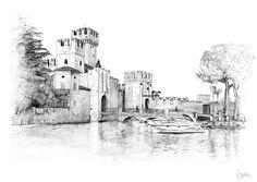 Italy. Illustration. by Anna Ulyashina, via Behance