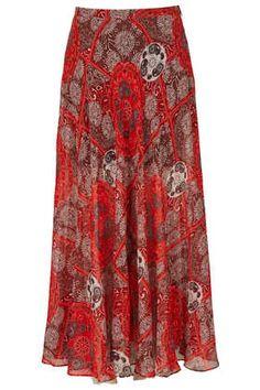 Red Bandana Print Maxi Skirt - Maxi & Midi Skirts - Skirts  - Clothing