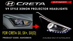 Buy Our Hyundai Creta, DRL, AES 55 watt, XENON HID Projector Headlights. These Headlights are Durable & exclusively designed by understanding & keeping weather & road conditions in mind. Custom Headlights, Projector Headlights, Car Headlights, Hidden Projector, Car Accessories, Coding, Style, Auto Accessories, Stylus
