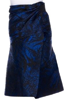 Proenza Schouler Black and Blue Size 2 (XS, 26). Free shipping and guaranteed authenticity on Proenza Schouler Black and Blue Size 2 (XS, 26)PROENZA SCHOULER black and blue metallic wrap skir...