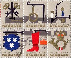 Denmark Christmas Seals 1962 | Art and design inspiration from around the world - CreativeRootsArt