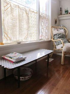 sweet little vintage towel curtains via: dottie angel