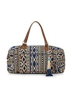 Azure gewebte Weekender // Diese tolle #Tasche findet ihr bei #Accessorize bei uns in der #EuropaPassage! #Look #Plonnimonni #ShopsInDerEuropaPassage #EuropaPassageHamburg #Sommer2015