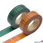 Masking Tape - Doppelpack 'Tartan grün & orange'