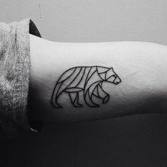 tatouage-ours-trait-fin-bras.jpg (612×612)
