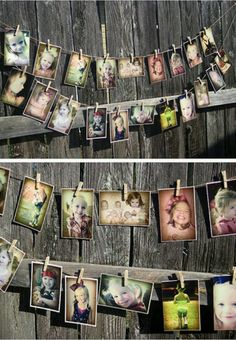 Okay...we should totally do this one! We can take a bunch of baby bump pics and pictures of you girls and the boys and then use them to decorate just like this.