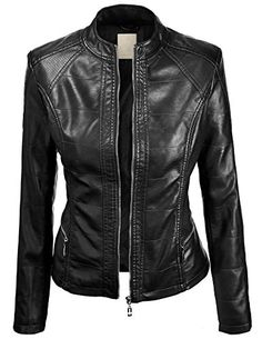 LL Womens Hooded Faux leather Jacket at Amazon Women s Coats Shop fa48abe44aa2