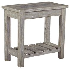Signature Design by Ashley T748-7 Veldar Chairside End Table, Whitewash