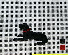 Cross Stitck Pattern - black labrador dog