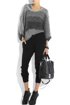 Bird by Juicy Couture - Cropped mohair-blend sweater 791bbd004