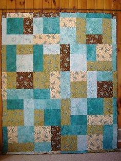 CHERISH Completed Finished Quilt Hand Dyed Fabrics, Bed Quilt Wallhanging