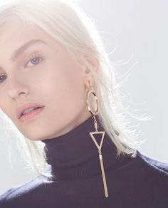 ZARA - GEOMETRIC EARRINGS