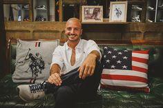 Nicolas Vaporidis per U.S. Polo assn. https://www.uspolo.org a Pitti Immagine Uomo - photo by Alessandro Chiarini