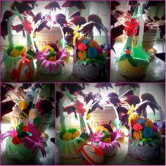 Easter карзиночки with eggs ....kviling ....