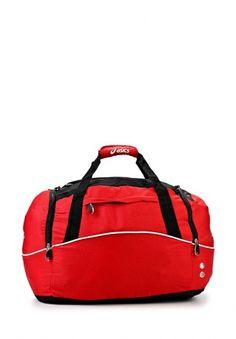 Вместительная сумка от Asics. Аксессуар красного цвета выполнен из плотного материала. Детали: внутреннее отделение, три внешних кармана, удобные ручки. http://j.mp/1pPBfSg