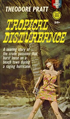 Robert McGinnis / book cover artwork illustration / Tropical Disturbance 1961