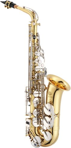 The Jupiter JAS710GN alto saxophone is a beginner instrument with advanced features. It is built to withstand the rigors of student ownership, and has a rich sound. It comes with a wood frame case, mo