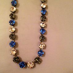 Your place to buy and sell all things handmade Swarovski Crystal Necklace, Swarovski Jewelry, Crystal Bracelets, Crystal Jewelry, Swarovski Crystals, Jewelery, Jewelry Necklaces, Chain Jewelry, Diy Jewelry Inspiration