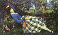 Leon Kroll - Girl in a Hammock